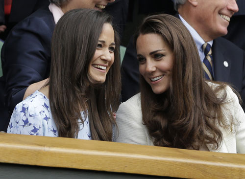 La Duquesa de Cambridge y Pippa Middleton