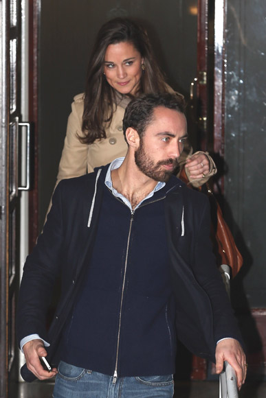Pippa y James Middleton van a visitar a su hermana, la duquesa Catherine, al hospital