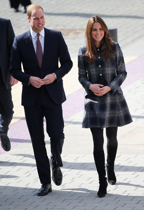 La Duquesa de Cambridge, a la escocesa: con tartán y de corto