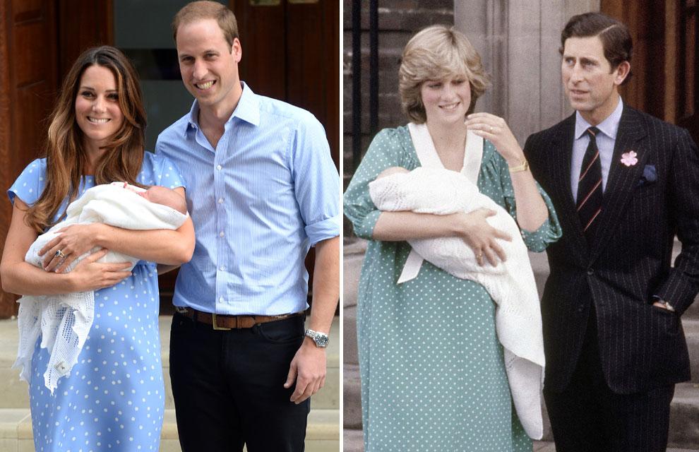 La imagen se repite 30 años después: la Duquesa de Cambridge evoca a Diana de Gales en la presentación de su hijo