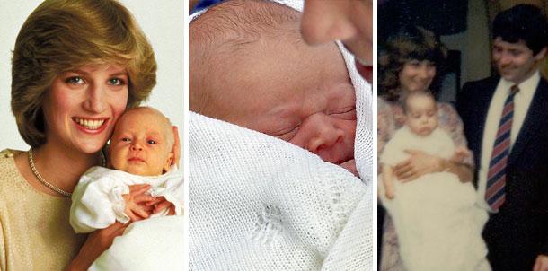 Así eran de bebés los Duques de Cambridge