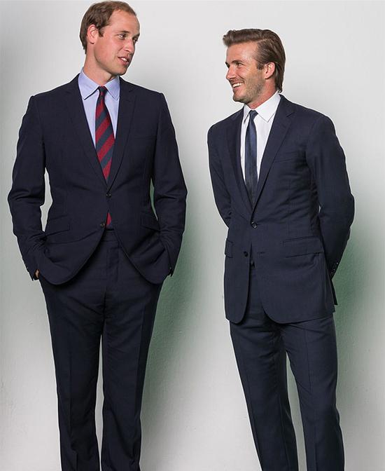 El príncipe Guillermo y David Beckham comparten risas y complicidad delante de las cámaras