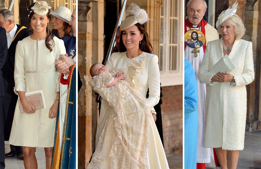 Los colores del bautizo del príncipe George de Cambridge