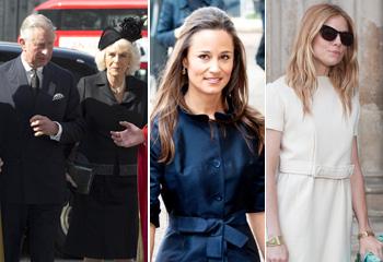 El príncipe Carlos, Pippa Middleton y Sienna Miller, unidos para honrar la memoria del periodista David Frost