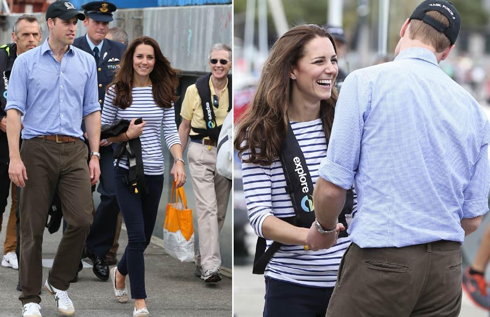 Los Duques de Cambridge: amor y sonrisas por tierra, mar y aire