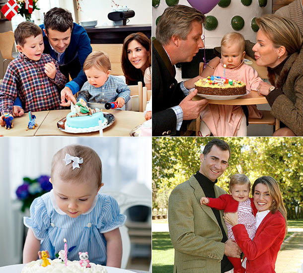 El príncipe George va a por el año: cómo celebraron su primer cumpleaños los otros niños reales