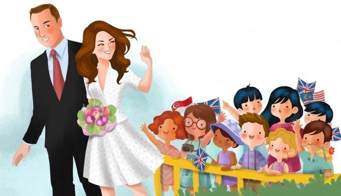 Los Duques de Cambridge, protagonistas de un simpático libro infantil de dibujos