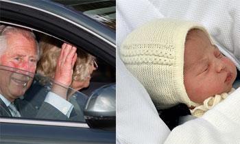 Los felices abuelos visitan a su nieta