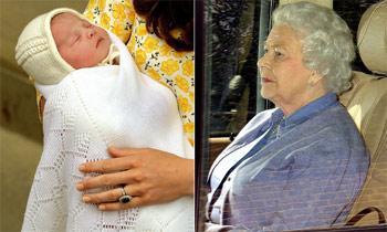 La reina Isabel ya conoce a su nueva bisnieta, la princesa Charlotte de Cambridge