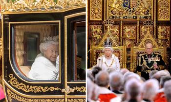 Isabel II preside la apertura del Parlamento británico