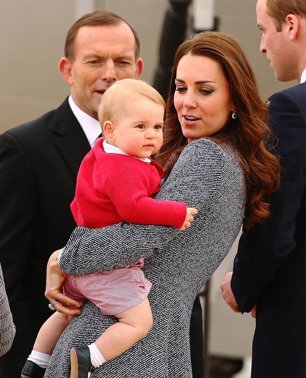 La duquesa Catherine y su hijo, una dulce tarde sólo para dos