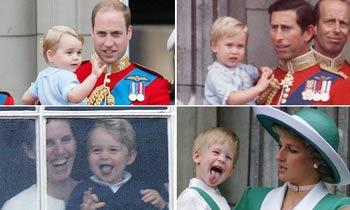 El príncipe George, un 'déjà vu' de su padre y su tío de pequeños
