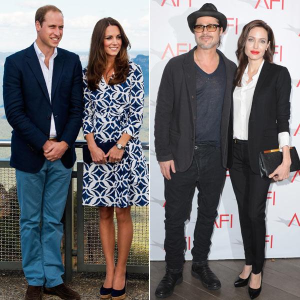 ¿De qué hablaron Brad Pitt y Angelina Jolie tomando el té con los Duques de Cambridge?