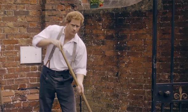 La imagen más divertida del príncipe Harry convertido en jardinero