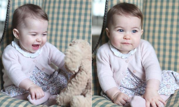 El primer vestido de la princesa Charlotte y su peluche favorito, todos los detalles de sus últimas fotos