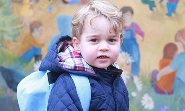 El primer día de guardería del príncipe George