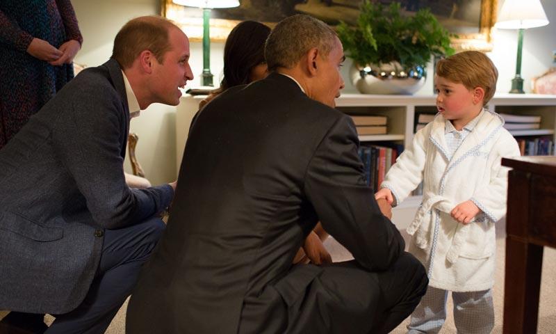 ¡Para comérselo! El día en que el príncipe George conoció a los Obama
