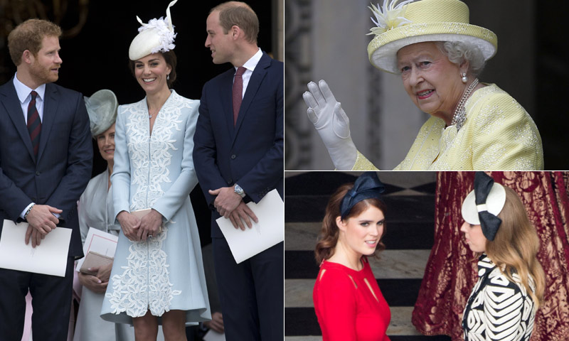 Desfile de elegancia 'british' en la celebración del 90 cumpleaños de Isabel II