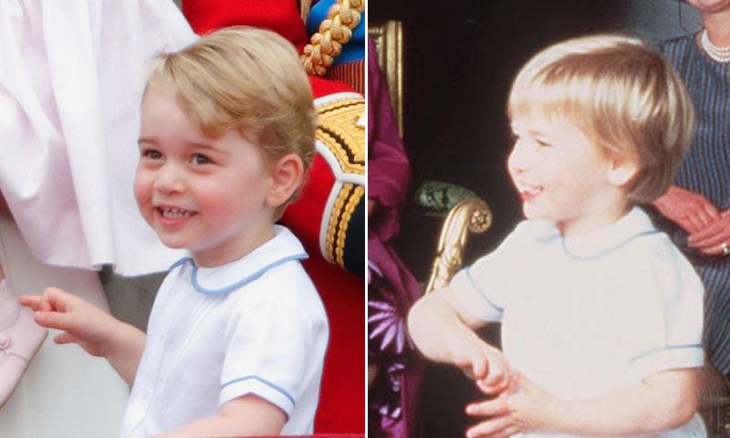 ¡Igualito que papá! George de Cambridge 'recicla' el 'look' del príncipe Guillermo