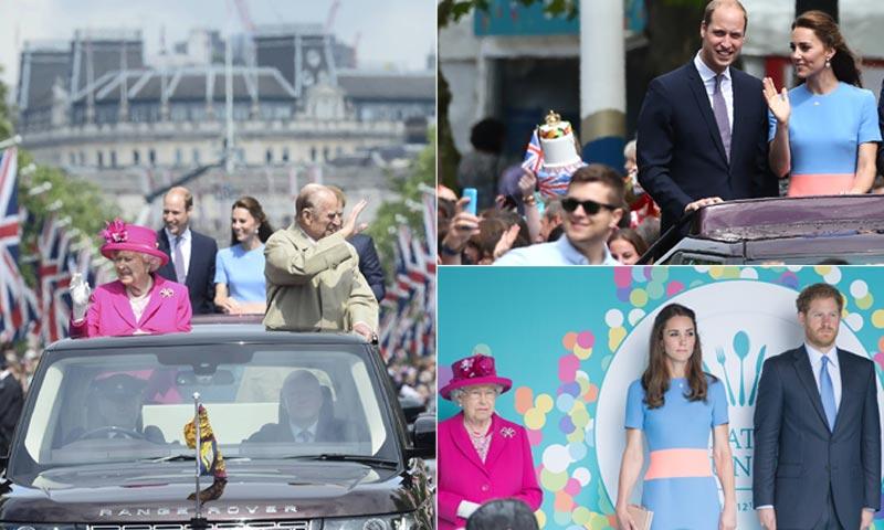 Foto a foto: Así ha sido el multitudinario almuerzo en honor a la reina Isabel