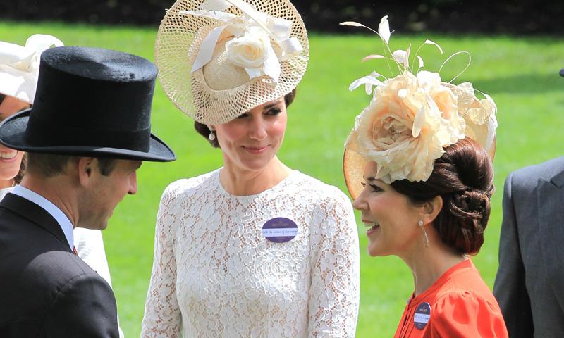La Duquesa de Cambridge y Mary de Dinamarca, el encuentro de dos musas en Ascot