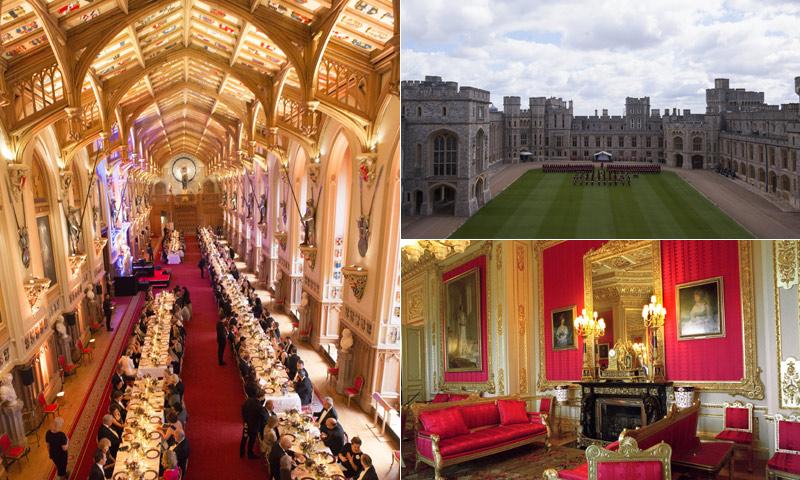 Descubre el Castillo de Windsor donde el príncipe Carlos ha sido anfitrión de una cena muy española