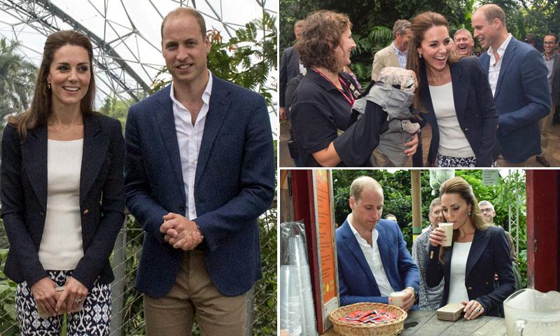 ¡Batidos y marionetas! Los Duques de Cambridge disfrutan como niños de su turismo 'improvisado'