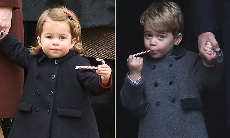 FOTOGALERÍA: La 'dulce' Navidad del príncipe George y la princesa Charlotte con sus padres y la familia Middleton