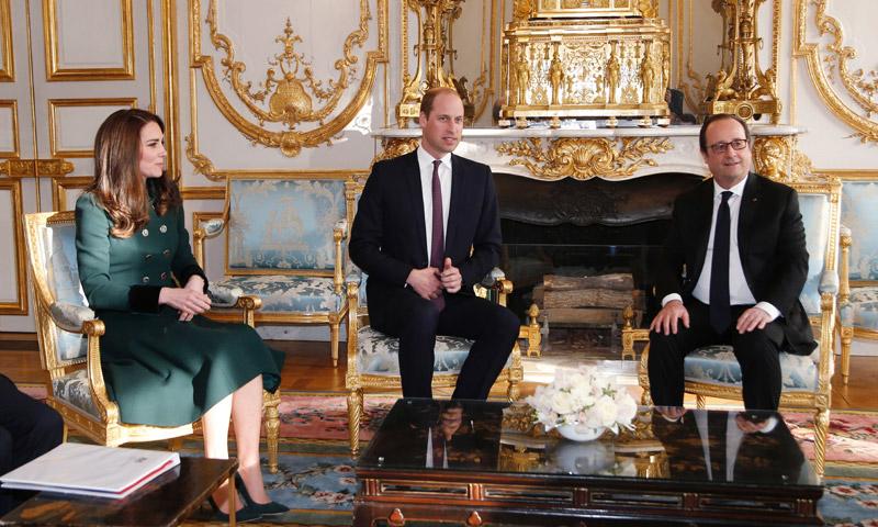 Los Duques de Cambridge inician su visita de dos días a París