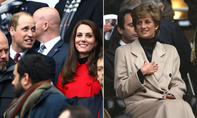 Los Duques de Cambridge y Diana de Gales: la imagen que se repite 22 años después