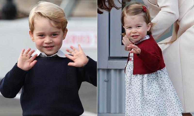 Los príncipes George y Charlotte sorprenden a la reina Isabel II con un regalo por su 91 cumpleaños