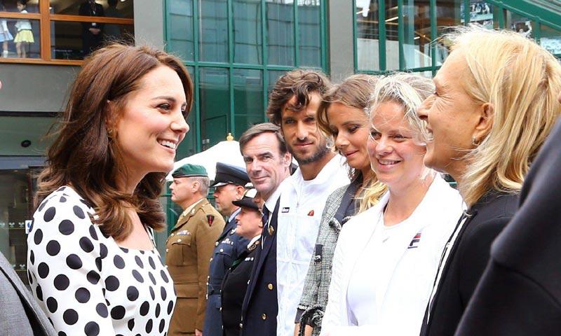 El encuentro de la Duquesa de Cambridge con Feliciano López