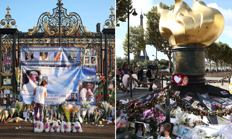 De Londres a París: el mundo recuerda a Diana de Gales en el 20 aniversario de su muerte