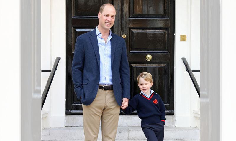 En vídeo y al detalle, ¿cómo vivió el príncipe George su primer día de colegio?