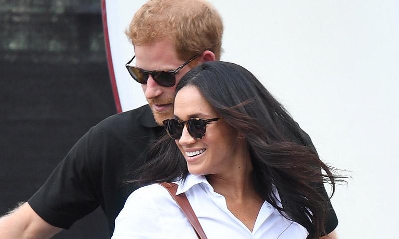 ¡Ya llegó! El esperado encuentro de Harry y Meghan Markle con la Reina de Inglaterra