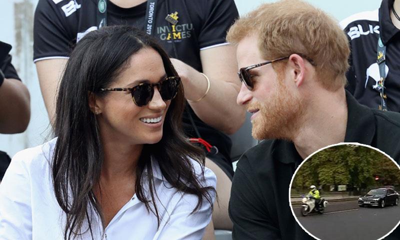 En vídeo: El príncipe Harry y Meghan regresan a Palacio tras su cita para tomar el té con Isabel II