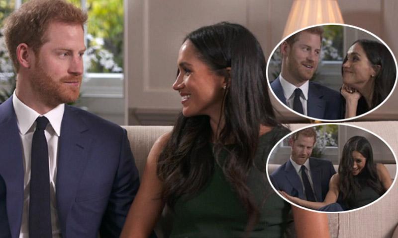 Así 'hacen el payaso' Harry de Inglaterra y Meghan Markle cuando termina su entrevista