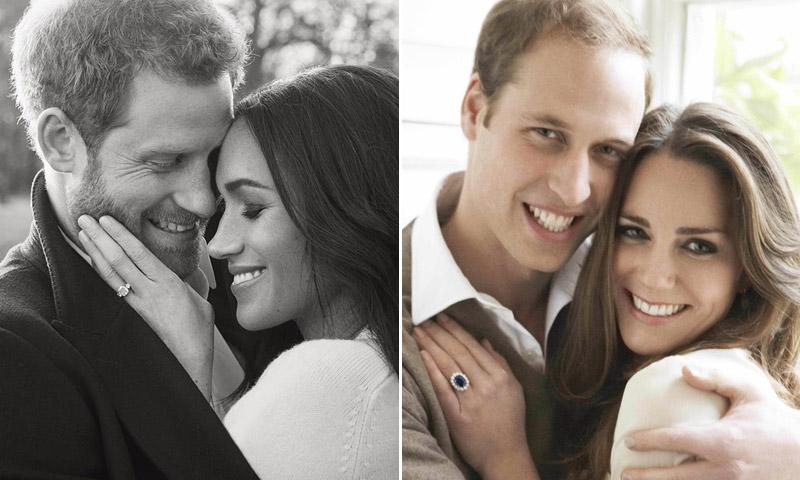 Los Duques de Cambridge, ¿'modelos' de los retratos oficiales de compromiso de Harry de Inglaterra y Meghan Markle?
