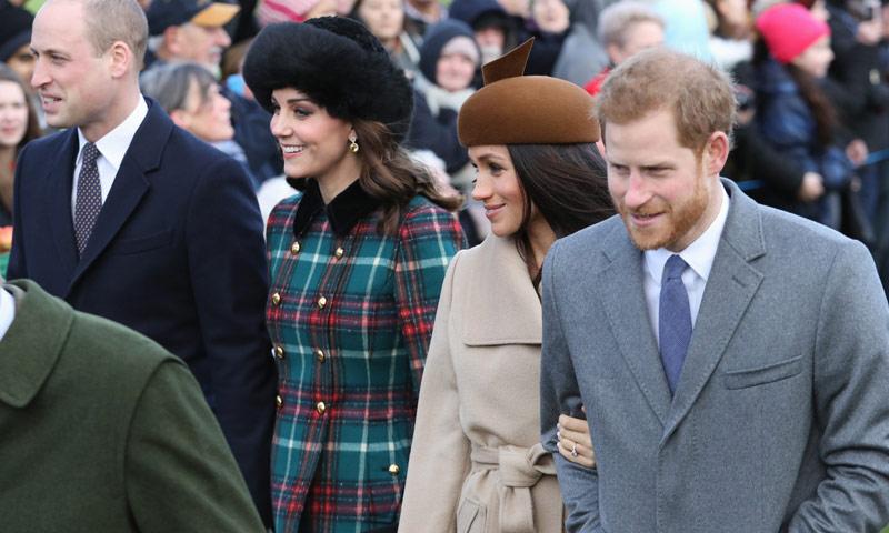 Por primera vez los Duques de Cambridge y el príncipe Harry y Meghan Markle compartirán agenda oficial