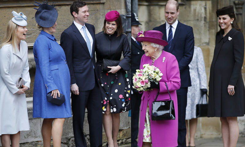 La capilla de St George, donde se casarán Harry de Inglaterra y Meghan Markle, reúne a la Familia Real británica en Semana Santa