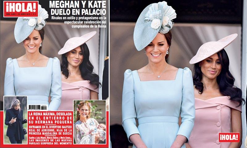 En ¡HOLA!, Meghan y Kate, duelo en palacio