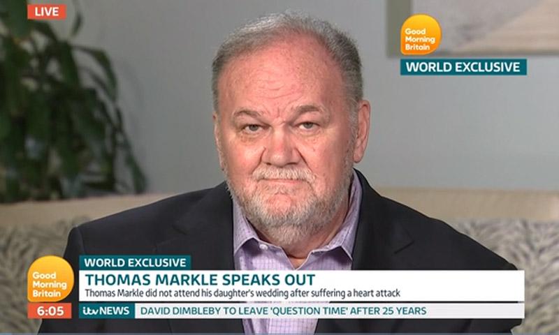 Thomas Markle, padre de Meghan, aviva aún más la polémica con su última entrevista