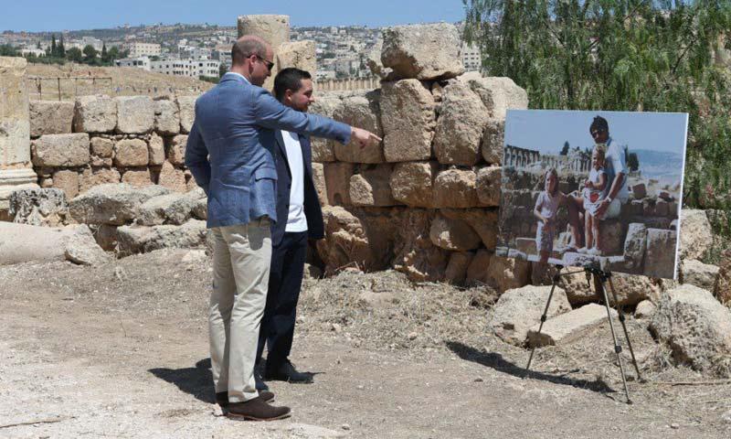 ¡A esa niña la conozco! El encuentro más insólito del príncipe Guillermo con su mujer en Jordania