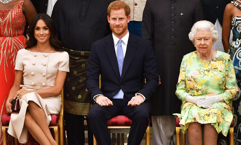 La nueva cita de los Duques de Sussex con la reina Isabel II en la que también estuvo David Beckham