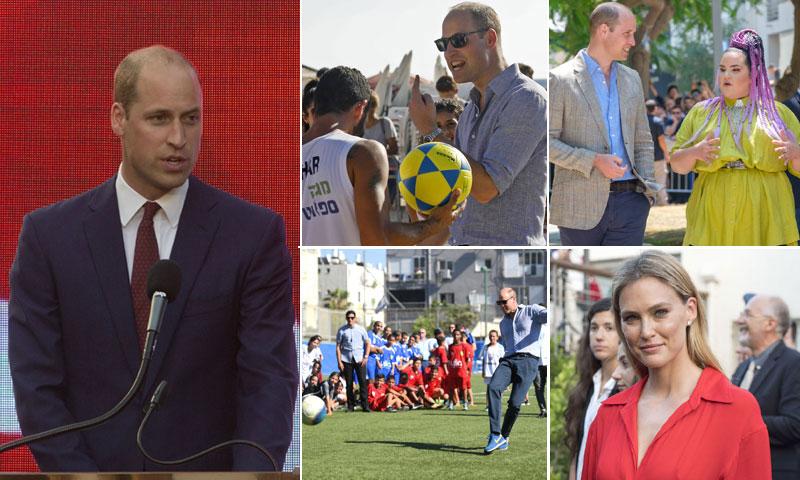 Guillermo de Inglaterra es '¡el príncipe más guapo del mundo!' para la supermodelo Bar Refaeli tras conocerlo en persona en Israel