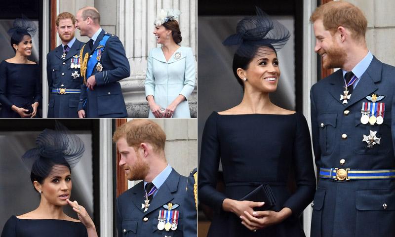 Miradas, explicaciones y bromas... ¡Todos los gestos del último paso de Meghan por el balcón de Buckingham!