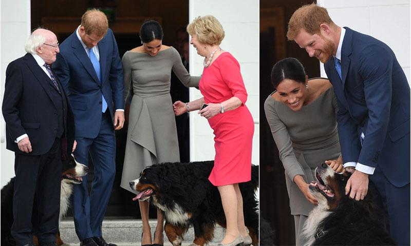 ¡Un mimo, por favor! Harry y Meghan en el recibimiento oficial que aún no habíamos visto