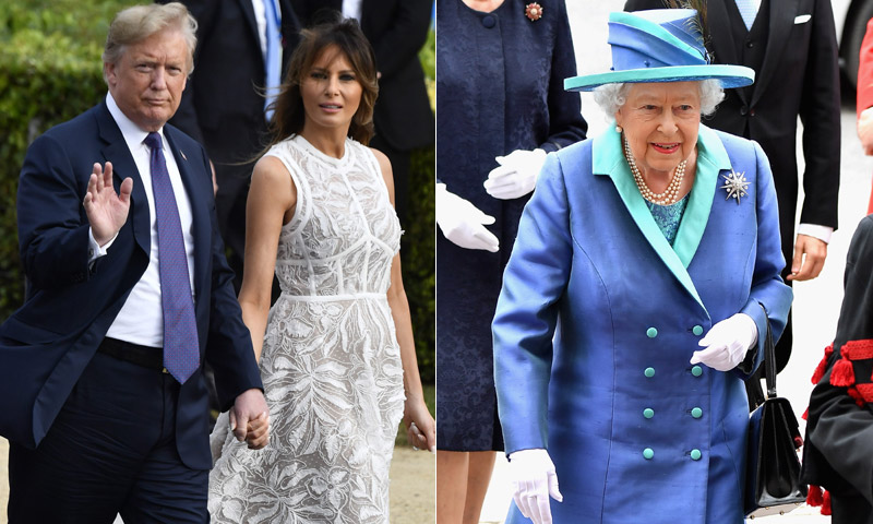 Los antecedentes (más o menos polémicos) que marcan el encuentro de Donald Trump con la Reina de Inglaterra