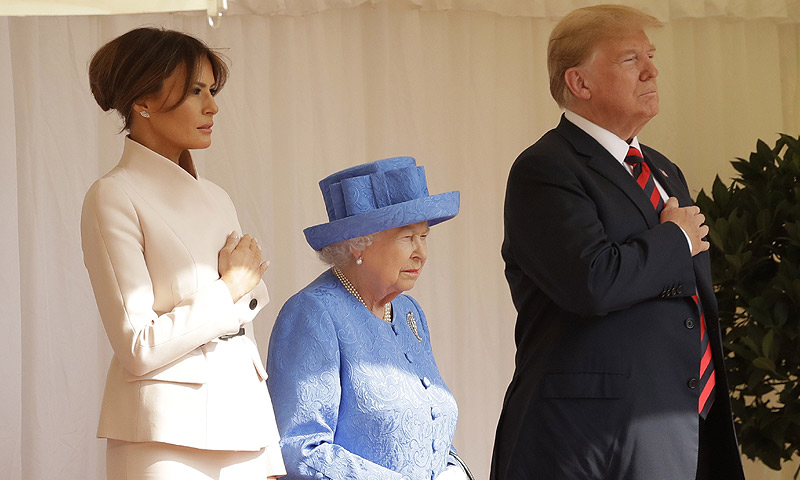 Así ha sido el encuentro de Isabel II con Donald y Melania Trump