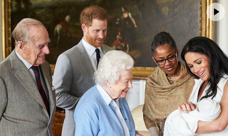 La reina Isabel II ya conoce a su bisnieto, el hijo de príncipe Harry y Meghan Markle